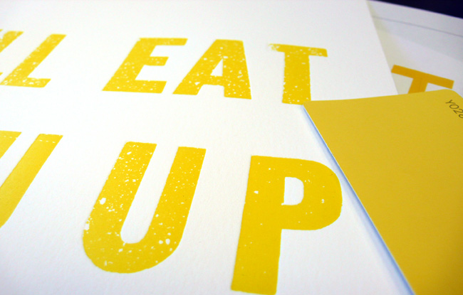 custom print: I'll eat you up