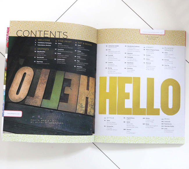 UPPERCASE magazine spread