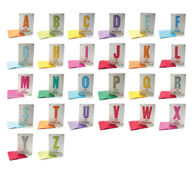 Alphabet Greeting Cards