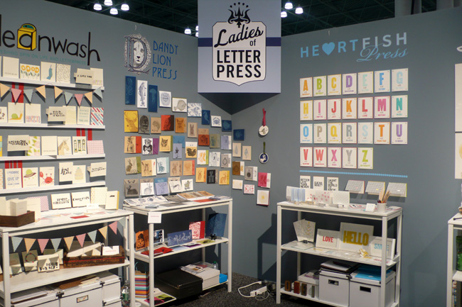 Ladies of Letterpress Booth 2011