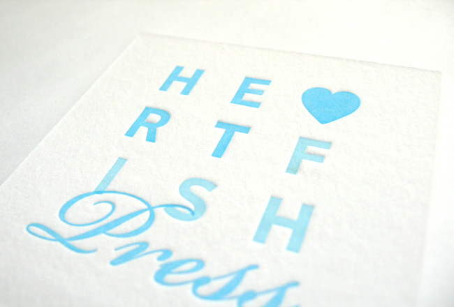 Heartfish Press Business Card