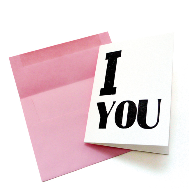 I__YOU letterpress card