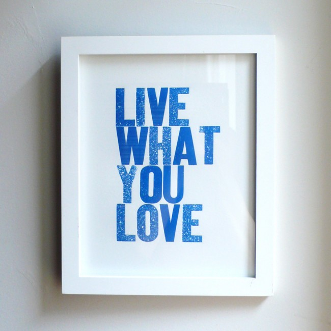 Live What You Love Blue