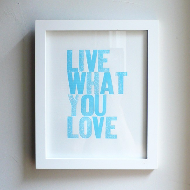 Live What You Love Light Blue