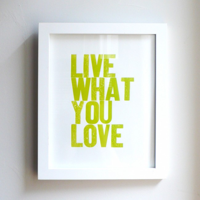Live What You Love Yellow Green
